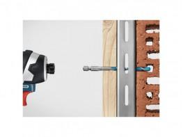 BROCA MULTICONSTRUCTION HEX 9 - LONG LIFE - 4 mm - ENCAIXE HEXAGONAL - BOSCH
